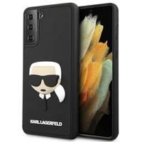 Karl Lagerfeld KLHCS21SKH3DBK S21 G991 black / black hardcase 3D Rubber Karl`s Head