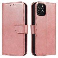 Magnet Case elegant bookcase type case with kickstand for Huawei P40 Lite 5G / Huawei Nova 7 SE pink