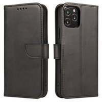 Magnet Case elegant bookcase type case with kickstand for Oppo A53 black
