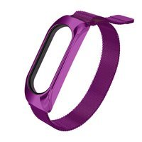 Replacment metal band bracelet strap for Xiaomi Mi Band 6 / Mi Band 5 / Mi Band  4 / Mi Band 3 violet