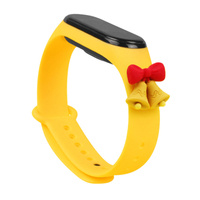 Strap Xmas replacement band strap for Xiaomi Mi Band 6 / Mi Band 5 Christmas holidays yellow (bells)