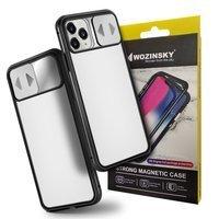 Wozinsky Magnetic Cam Slider Case Full Body Cover built-in front glass lens rotector for Huawei P40 Lite 5G black
