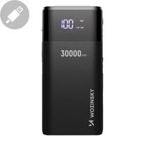 Wozinsky Power Bank 4x USB 30000mAh with Display 4A black (WPB-001BK)