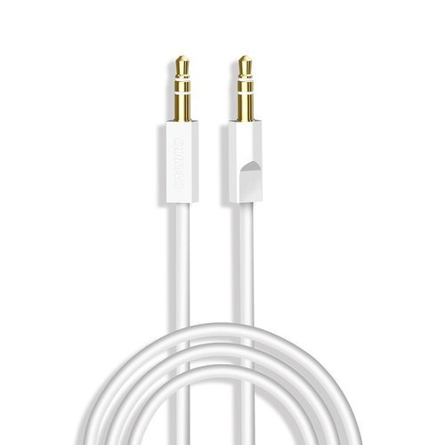 Dudao cable AUX mini jack 3.5mm 1m 3 pole stereo white (L12S white)
