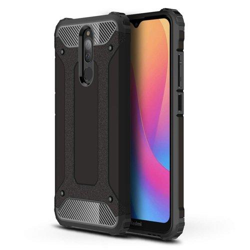 Hybrid Armor Case Tough Rugged Cover for Xiaomi Redmi 8 black