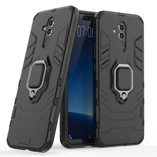 Ring Armor Case Kickstand Tough Rugged Cover for Huawei Mate 20 Lite black