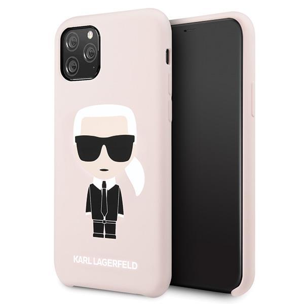 Karl Lagerfeld KLHCN58SLFKPI iPhone 11 Pro hardcase jasnoróżowy/light pink Silicone Iconic