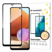 Wozinsky Tempered Glass Full Glue Super Robust Panzerglas Vollbild Hartglas mit Rahmen Case Friendly für Samsung Galaxy A32 4G schwarz