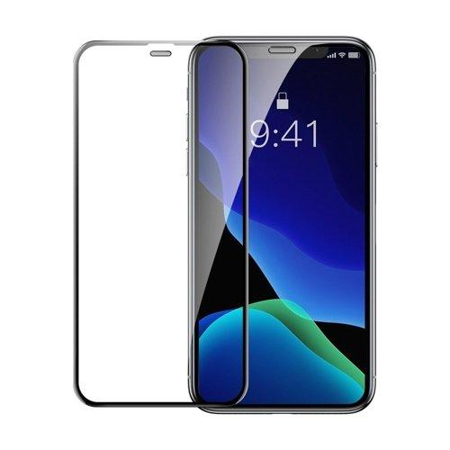 Baseus Set 2x Schutzglas Full Screen mit Rahmen 0.3mm 9H iPhone 11 Pro Max / iPhone XS Max + Anwendungtool schwarz (SGAPIPH65-WD01)