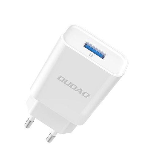 Dudao Ladegerät EU USB 5V / 2.4A QC3.0 Quick Charge 3.0 weiß (A3EU weiß)