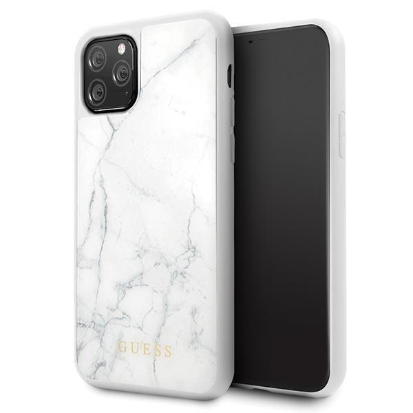 Guess GUHCN58HYMAWH iPhone 11 Pro weiß / weißer Marmor