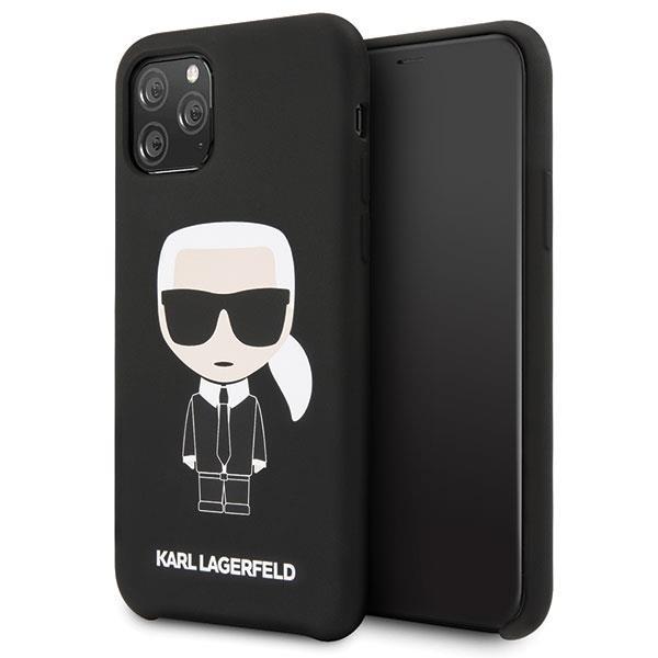 Karl Lagerfeld KLHCN58SLFKBK iPhone 11 Pro Hardcase schwarz / schwarz Silikon Iconic