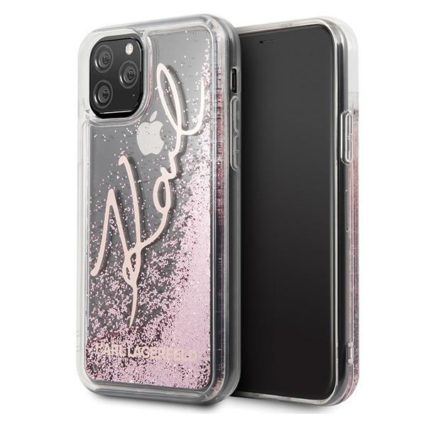 Karl Lagerfeld KLHCN65TRKSRG iPhone 11 Pro Max różowo-złoty/rose gold Glitter Signature