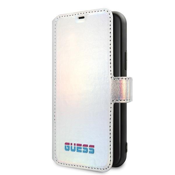 Ratet mal GUFLBKN65BLD iPhone 11 Pro Max silber / silbernes Buch schillernd