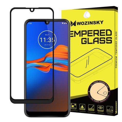 Wozinsky Super Tough Full Glue Tempered Glass Vollbild mit Rahmen Case Friendly Motorola Moto E6 Plus Transparent