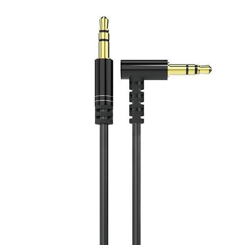 Dudao kątowy kabel przewód AUX mini jack 3.5mm 1m czarny (L11 black)