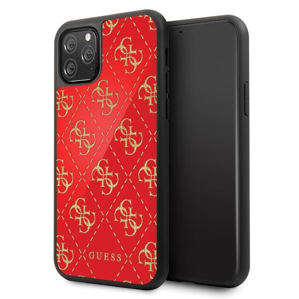 Guess GUHCN584GGPRE iPhone 11 Pro czerwony/red hard case 4G Double Layer Glitter