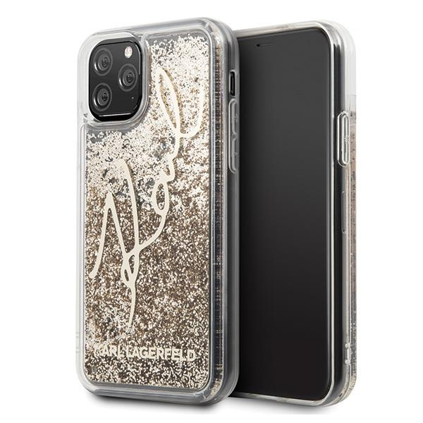 Karl Lagerfeld KLHCN58TRKSGO iPhone 11 Pro złoty/gold Glitter Signature